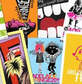 A collage of previous Adelaide Fringe Festival posters